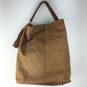 Cynthia Rowley Tan Dyed Calf Hair Shopper Purse